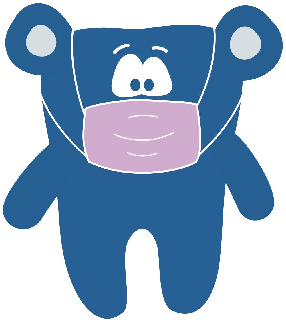 Mundschutz-Zahnbär